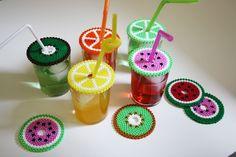 Fruit coasters/glass covers hama beads by Kreativa Karin