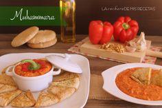 Muhammara: crema de pimientos rojos asados con nueces | http://lacucharademisrecetas.com/muhammara-crema-de-pimientos-rojos-asados-con-nueces/