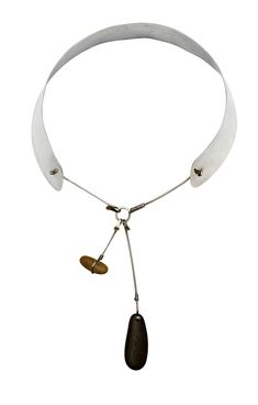 Necklace   Vivianna Torun Bülow-Hübe. Sterling silver with two pendants made in her own workshop. ca. 1950