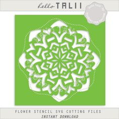 Flower Stencil SVG cutting file- Irish flower stencil arabesque tile mosaique…