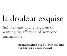 The exquisite pain. I think we have ALL been there!