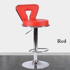 Red White Color Seat Bar Chairs Public House Stools Exhibition Fair Stool Household Chair Design