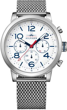 Tommy Hilfiger Men's Casual Sport Stainless Steel Mesh Bracelet Watch 46mm 1791233