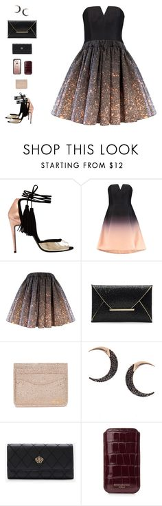 """""""Pascal(Chameleon) II"""" by sol4nge ❤ liked on Polyvore featuring Majorelle, Halston Heritage, Lana, WithChic, Aspinal of London, Casetify and tangled"""