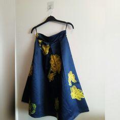 30086e8011da BLUE & YELLOW FLOWER SKIRT • Blue and yellow flower skirt - Depop Flower  Skirt,