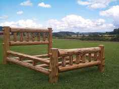 log beds | Log Beds, Bunkbeds