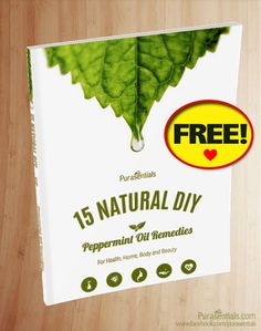 Avoid harsh chemicals and save money around the home with our FREE e-book of all-natural DIY tips and remedies using peppermint essential oil! ♥www.purasentials.com♥ Proudly family owned