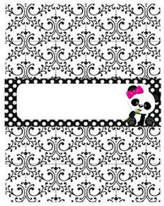 Professora Tati Simões: Kit Panda Preto, branco e rosa para imprimir grátis Panda Birthday Party, Panda Party, Birthday Parties, Panda Icon, Baby Shower Princess, Elephant, Panda Decorations, Owl Art, Pandas