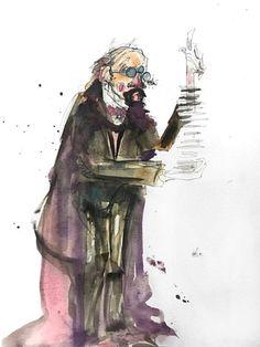 the vanishing illusionist http://ift.tt/2jtXMIs Art watercolor acrylic doodle art painting artistsoftumblr watercolor