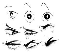eye expression ref i doodled up?? i'll prolly do more expression refs soon but who knows