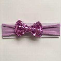 Lavender Sequin Bow Baby Headband | Light Purple | Toddler Headband | Soft Jersey Headband by littlechancesdesigns on Etsy https://www.etsy.com/listing/514822149/lavender-sequin-bow-baby-headband-light