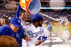 Dousing time - Jamie Squire/Getty Images