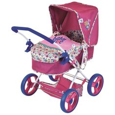 Your future mommy will adore taking her baby for walks in the cute Baby Alive Diana Pram Doll Stroller. This easy-fold stroller features a removable bassinet and cover to keep her doll safe while included storage is perfect for holding items. Baby Alive Doll Clothes, Baby Alive Dolls, Baby Doll Strollers, Baby Prams, Pram Stroller, Baby Dolls For Kids, Baby Kids, Children Toys, Baby Baby