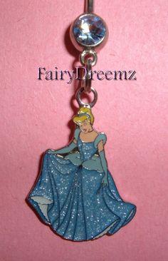 CINDERELLA Pretty Dress Princess Belly Navel Ring Body Jewelry