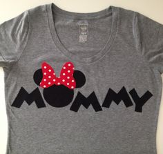 PERSONALIZED: Mommy Minnie Mouse Theme T-shirt @s_murst you gotta make us these!!