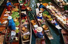 Gernika-Lumo y el COMERCIO: Mercados del mundo: Los mercados flotantes de Thailandia