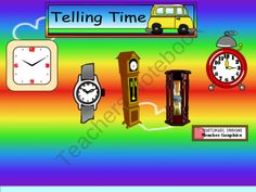Telling Time Hour and Half Hour Smartboard Activities product from Kestners-Kreations on TeachersNotebook.com