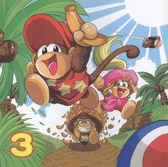 Donkey Kong, Diddy Kong, and Dixie Kong