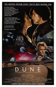 High quality REPRINT movie poster for Dune featuring Sting from 1984. 11 x 17 inches.