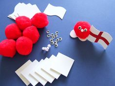 littlecraftybugs.co.uk: St Georges Day Crafts - It's All Red & White!
