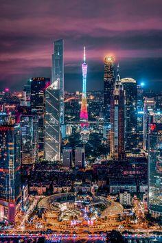 窗外的广州 Cityscape Photography, City Photography, Landscape Photography, Beautiful Sites, Beautiful World, Beautiful Places, Aesthetic Japan, City Aesthetic, Shanghai City