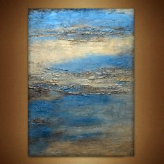 """FREE USA SHIPPING Large Wall Art Metal Print of  Original Abstract Landscape Painting """" reflections""""  by Holly Anderson 30"""" by HollyAndersonFineArt on Etsy"""