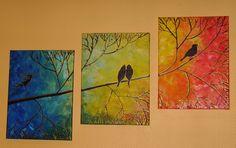 Triptique Oiseaux par Nadine
