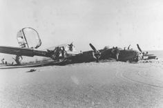 "Side view of the crashed Consolidated B-24D ""Lady Be Good."" (U.S. Air Force photo)"