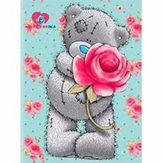 Diamond embroidery for children Cartoon bear diamond painting complete mosaic pattern Cross-stitch kits Pictures of rhinestones. Tatty Teddy, Teddy Bear Pictures, Bear Images, Bear Cartoon, Cartoon Kids, Teddy Beer, Blue Nose Friends, Love Bear, Cute Teddy Bears