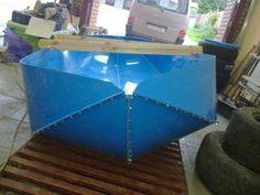 Construction Folding Boats From Polypropylene Sheet: 7 Steps Model Boat Plans, Boat Building Plans, Folding Boat, Kayak Boats, Banana Boat, Diy Boat, Wood Boats, Boat Design, Kayaking