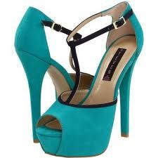 top shoe trends for turquoise and black peep toe platform heels Stiletto Pumps, High Heel Pumps, Pumps Heels, Crazy Shoes, Me Too Shoes, Turquoise Heels, T Strap Shoes, Peep Toe Platform, Platform Shoes