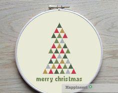 Borduurpatroon kerst rendieren PDF direct te van Happinesst op Etsy