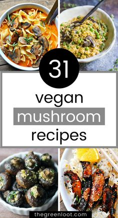 These Vegan Mushroom Recipes are healthy and easy to make! Soup, risotto, stuffed, gravy, pasta, portobello, shiitake and more tasty plant-based dinner ideas for every occasion. | The Green Loot