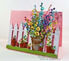 Hollyhocks and Garden Pots by kittie747 - Cards and Paper Crafts at Splitcoaststampers