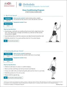 This knee rehabilitation exercise program focuses on strengthening the muscles that support your knee to help reduce stress on your knee joint. Strong muscles help your knee joint absorb shock. Hand Exercises For Arthritis, Knee Arthritis, Rheumatoid Arthritis, Total Knee Replacement Exercises, Knee Replacement Recovery, Intercostal Muscle Strain, Meniscus Surgery, Hamstring Muscles, Physical Therapy