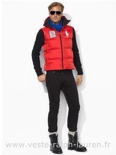 a6022318f03 Polo officiel - Ralph Lauren 2013 veste sans manches populaire hommes big  polo downhill usa67 rouge Doudoune Sans Manche Homme Ralph Lauren
