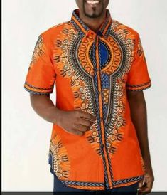Check out this item in my Etsy shop https://www.etsy.com/listing/475028820/african-mens-clothing-orange-dashiki-for