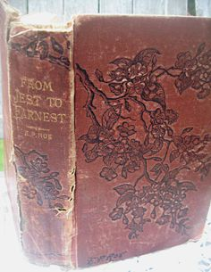 Gorgeous antique book with flowers and by LittleBeachDesigns, $14.00