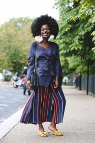 Modern and chic in stripes   For more style inspiration visit 40plusstyle.com