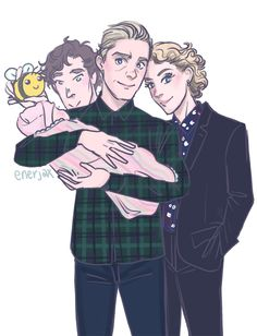 I think Sherlock has a soft spot for the bebehs ❤