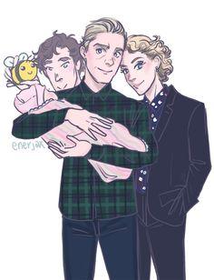 "enerjax: ""I think Sherlock has a soft spot for the bebehs ❤ "" Sherlock Bbc, Sherlock Fandom, Sherlock Season 4, Sherlock Holmes Benedict, Sherlock Quotes, Jim Moriarty, Funny Sherlock, Mary Watson Sherlock, Sherlock Fan Art"