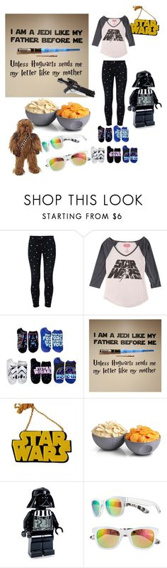 """Star Wars Marathon!!! (Let the Force be with You)"" by raquel-june ❤ liked on Polyvore featuring STELLA McCARTNEY, Hybrid, like my mother, Chicnova Fashion, ThinkGeek, Lego and Episode"