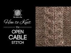 The Open Cable Stitch :: Knitting Stitch #208 | NEW STITCH A DAY