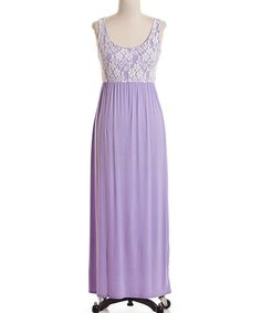 Look what I found on #zulily! Lavender & Ivory Lace Overlay Maxi Dress by Coveted Clothing #zulilyfinds