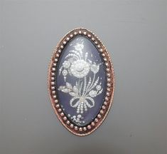 Georgian Gold & Blue Enamel Seed Pearl Floral Sentimental Brooch Pendant c. 1790. Before Victoria, of course.