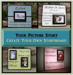 Create Your Own Custom Picture Frame by YourPictureStory on Etsy, $65.00