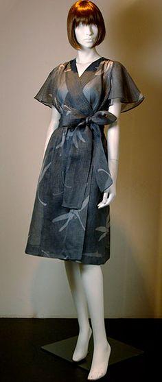 格子紗・蜻蛉ラップドレス