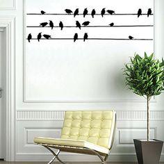 ALTINCI CADDE - KAMPANYA - Teldeki Kuşlar Duvar Sticker