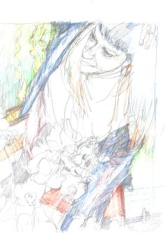 Guido Michl, Blumen nach den Tränen II, Graphit / Buntstift auf Papier, 29,7 x 21 cm, 2009, 250 €