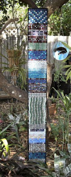 Recycled Glass Garden Art   GLASS ART